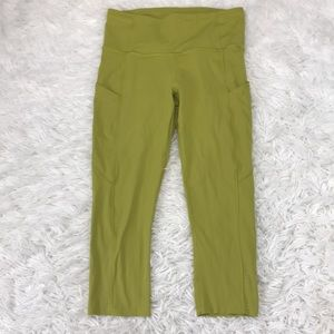 """Lululemon Fast and Free Crop II 19"""" *Nulux Golden"""
